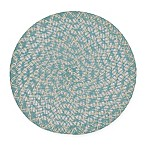 Braided Round Placemats in Spa Blue (Set of 6)