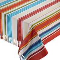 Baja Stripe 52-Inch Square Tablecloth