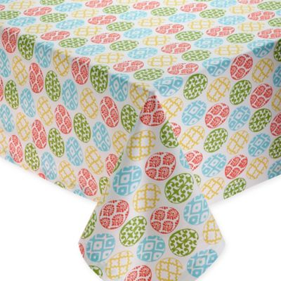 Lattice Egg 60 Inch X 84 Inch Oblong Deco Printed Tablecloth