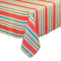 Mystic Stripe 60-Inch x 120-Inch Oblong Tablecloth in Aqua