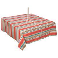 Mystic Stripe 60-Inch x 120-Inch Umbrella Tablecloth in Aqua