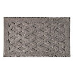 Diamond 20-Inch x 32-Inch Bath Rug in Pewter