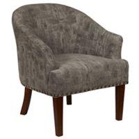 Pulaski Mid Century Bruno Pewter Barrel Chair in Grey