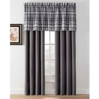 Camden Plaid 84-Inch Rod Pocket Window Curtain Panel Pair in Charcoal
