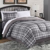 Camden Plaid 6-Piece Twin Comforter Set in Charcoal