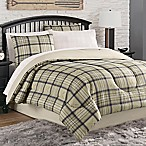 image of norfolk plaid 8piece comforter set in tannavy