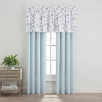 Seashells 84-Inch Rod Pocket Window Curtain Panel Pair in Aqua
