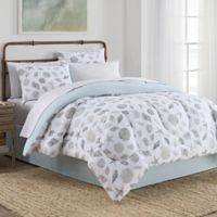 Seashells 8-Piece Queen Comforter Set in Grey/Aqua