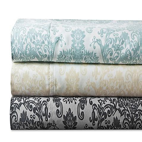 delano damask 300 thread count sheet set bed bath beyond. Black Bedroom Furniture Sets. Home Design Ideas