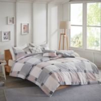 Jan 4-Piece Reversible Flannel Twin/Twin-XL Comforter Set in Blush