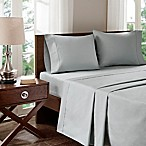 Madison Park 400-Thread-Count Aloe Vera Cotton Standard Pillowcases in Grey (Set of 2)