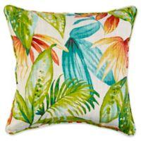 17-Inch Square Indoor/Outdoor Throw Pillow in Shady Palms