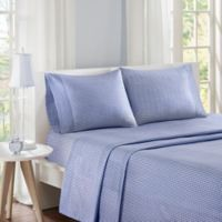 Mi Zone Gingham Queen Sheet Set in Navy