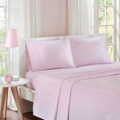 Etonnant Mi Zone Gingham Twin Sheet Set In Pink