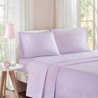 Mi Zone Gingham Full Sheet Set in Purple