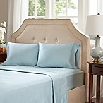 Madison Park 600-Thread Count Infinity Cotton Standard Pillowcases in Blue (Set of 2)