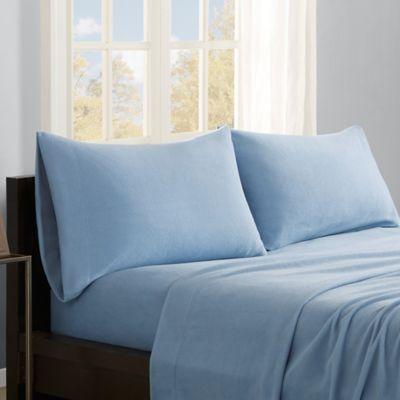 true north by sleep philosophy premier comfort microfleece queen sheet set in blue - Microfleece Sheets