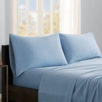 True North by Sleep Philosophy Premier Comfort Microfleece Full Sheet Set in Blue