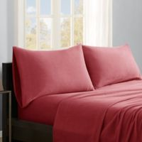 True North by Sleep Philosophy Premier Comfort Microfleece Twin Sheet Set in Red