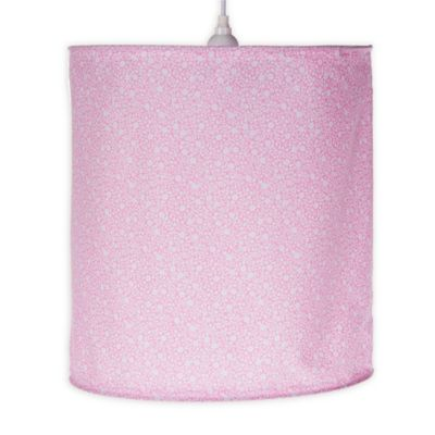 Buy pink lamp shades from bed bath beyond glenna jean stella hanging drum lamp shade in pink aloadofball Gallery