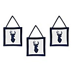 Sweet Jojo Designs Woodland Deer Wall Hanging (Set of 3)