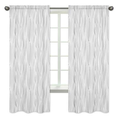 Sweet Jojo Designs Woodland Deer Wood Grain 84 Inch Window Panels Set Of 2