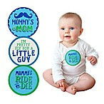 Pearhead Baby Boy Felt Belly Sticker in Blue