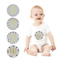 Pearhead First Year Foil Belly Stickers in Grey