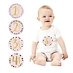 Pearhead First Year Foil Belly Stickers in Pink