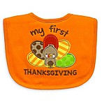 "Neat Solutions ""My 1st Thanksgiving"" Bib in Orange"