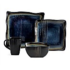Baum Galaxy Square 16-Piece Dinnerware Set in Denim