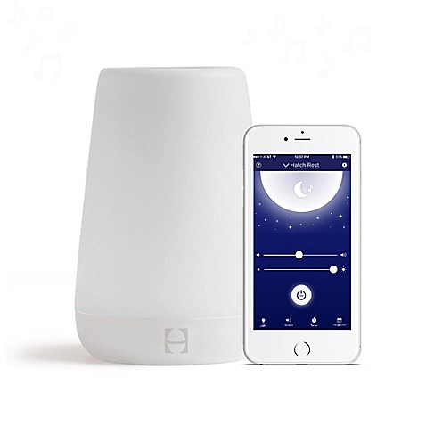 Hatch baby rest sound machine with night light in white for Bathroom noise maker