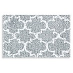 Loloi Rugs Grand Luxe 27-Inch x 45-Inch Bath Mat in Grey/White