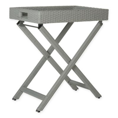 Safavieh Bardia Tray Table in Grey  sc 1 st  Bed Bath u0026 Beyond & Buy Tray Table Set from Bed Bath u0026 Beyond