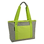 Picnic At Ascot™ Eco Large Insulated Cooler Tote in Grey/Green