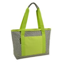Picnic at Ascot Large Insulated Cooler Tote in Grey/Green