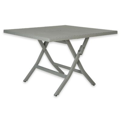 Safavieh Samana Square Folding Table In Grey