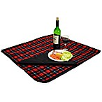 Picnic at Ascot Waterproof Outdoor Picnic Blanket in Red Plaid