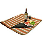 Picnic at Ascot Waterproof Outdoor Picnic Blanket in Orange Stripe