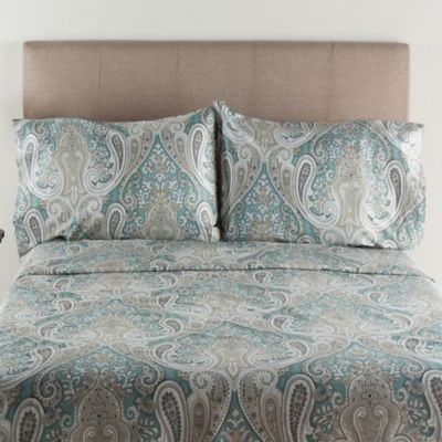 Crystal Palace 300 Thread Count Queen Sheet Set In Aqua