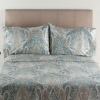 Crystal Palace 300-Thread-Count Queen Sheet Set in Aqua