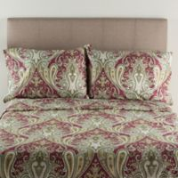 Crystal Palace 300-Thread-Count Queen Sheet Set in Burgundy