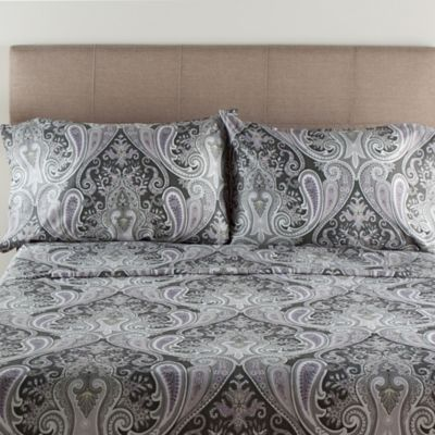 Crystal Palace 300 Thread Count Full Sheet Set In Grey