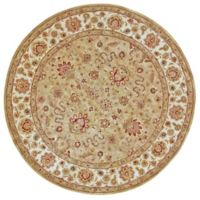 Feizy Abbey Alexandra 8-Foot Round Area Rug in Sage/Ivory