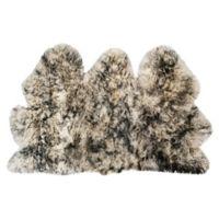 Safavieh Sheepskin 3-Foot x 5-Foot Area Rug in Ivory/Charcoal
