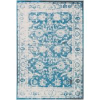 Surya Apricity Floral 2-Foot x 3-Foot Accent Rug in Blue