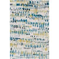 Surya Apricity Abstract 2-Foot x 3-Foot Accent Rug in White