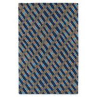 Kaleen Pastiche Fiber 3-Foot x 5-Foot Area Rug in Blue