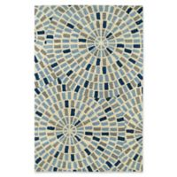 Kaleen Rosaic 8-Foot x 11-Foot Area Rug in Blue
