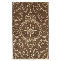 Kaleen Rosaic Pindots 2-Foot x 3-Foot Accent Rug in Brown